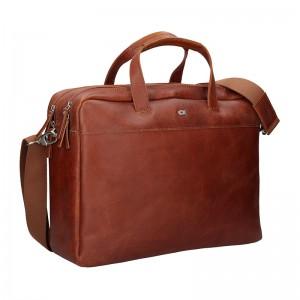 Luxusná pánska kožená taška Daag Martin - koňak