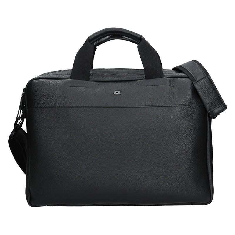 Luxusná pánska kožená taška Daag Bendr - čierna