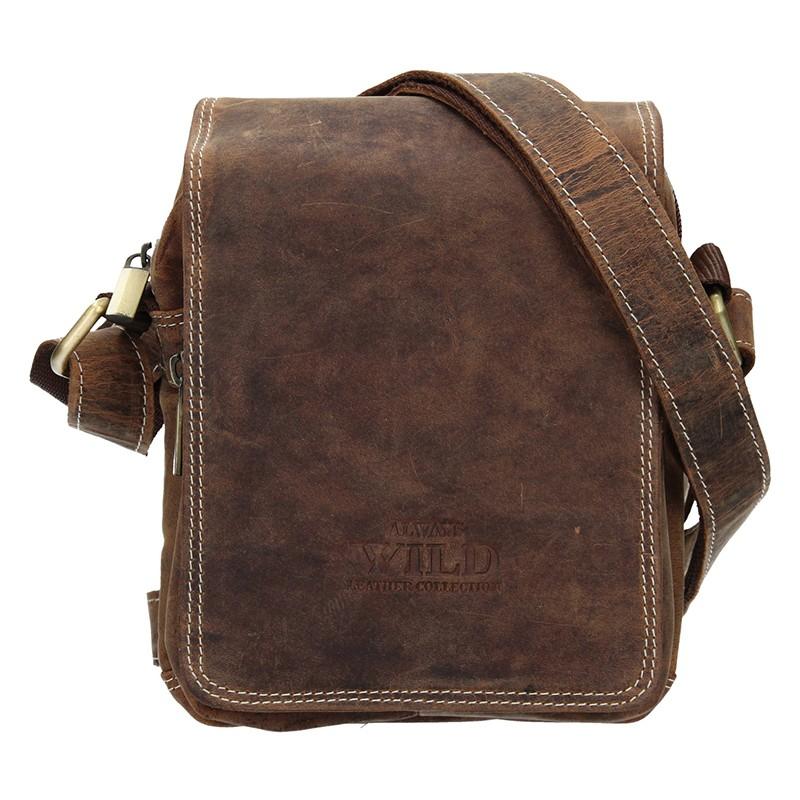 Pánská taška přes rameno Always Wild Marcel - hnedá