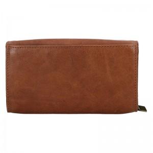 Dámska kožená peňaženka SendiDesign Alena - koňak
