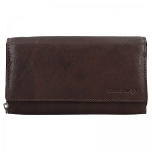 Dámska kožená peňaženka SendiDesign Monic - tmavo hnedá