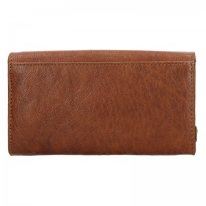Dámska kožená peňaženka SendiDesign Monic - koňak