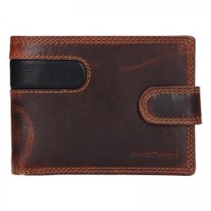 Pánska kožená peňaženka SendiDesign Martin - hnedo-čierna