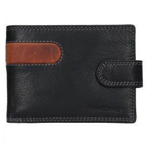 Pánska kožená peňaženka SendiDesign Martin - čierno-hnedá