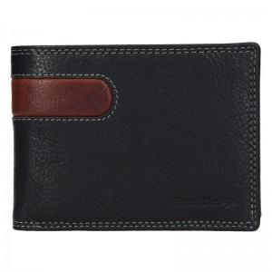 Pánska kožená peňaženka SendiDesign Amarela - čierno-hnedá