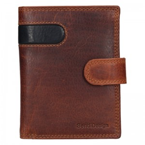 Pánska kožená peňaženka SendiDesign Sebastian - hnedo-čierna
