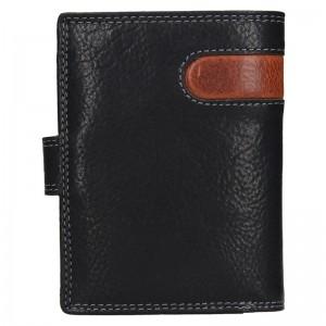 Pánska kožená peňaženka SendiDesign Sebastian - čierno-hnedá