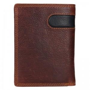Pánska kožená peňaženka SendiDesign Ulrich - hnedo-čierna