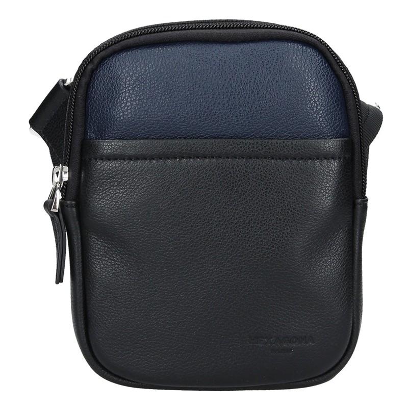 Pánska taška na doklady Hexagon Vilém - čierno-modrá
