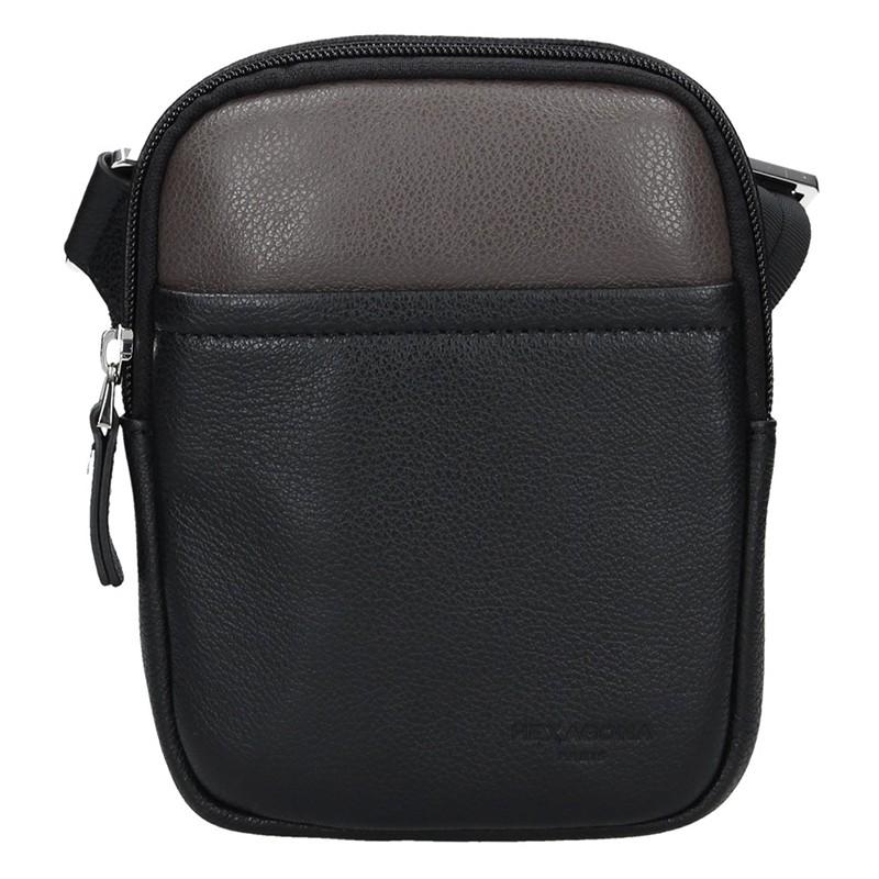 Pánska taška na doklady Hexagon Vilém - čierno-hnedá