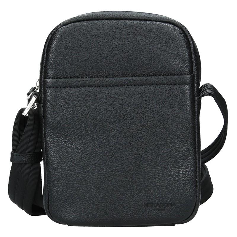Pánska taška na doklady Hexagon Augusto - čierna