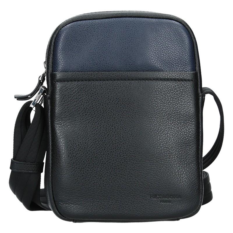 Pánska taška na doklady Hexagon Augusto - čierno-modrá