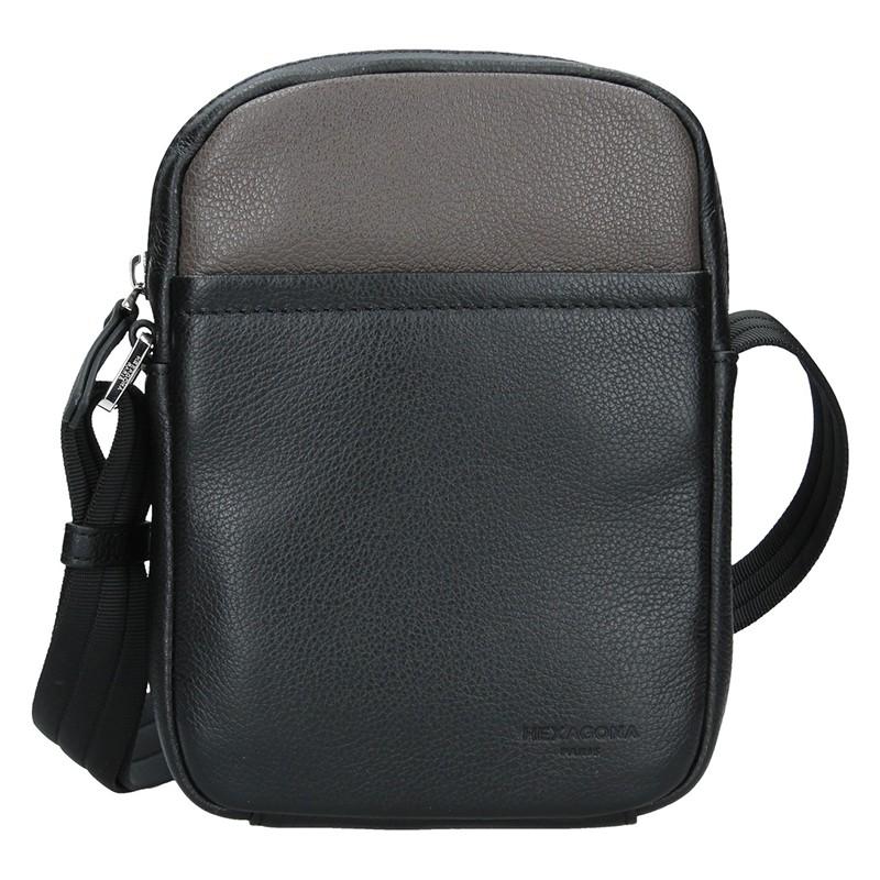 Pánska taška na doklady Hexagon Augusto - čierno-hnedá