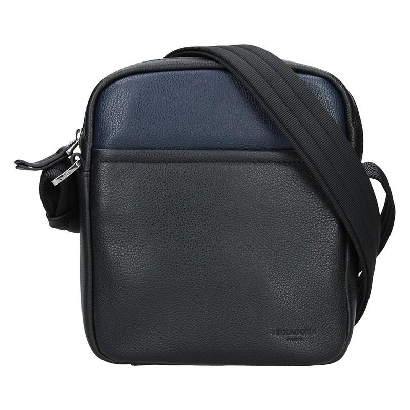 Pánska taška na doklady Hexagon Kolien - čierno-modrá