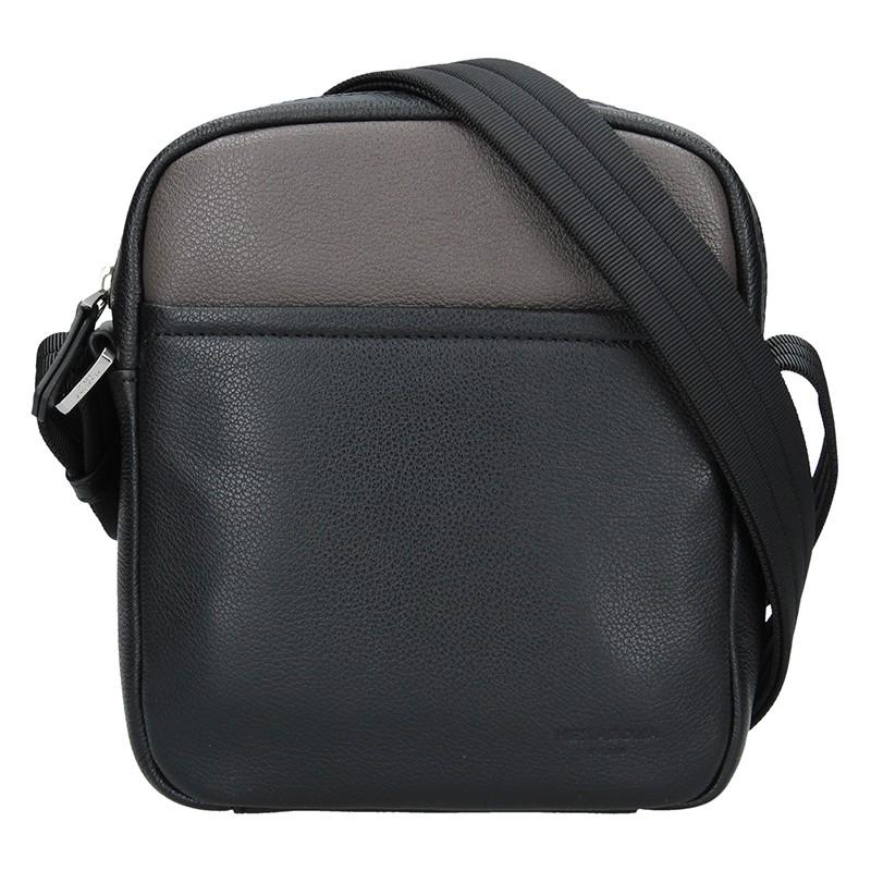 Pánska taška na doklady Hexagon Kolien - čierno-hnedá