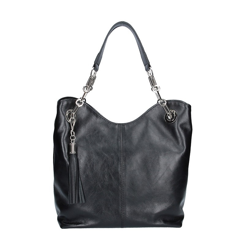Dámska kožená kabelka Facebag Sofia - čierna