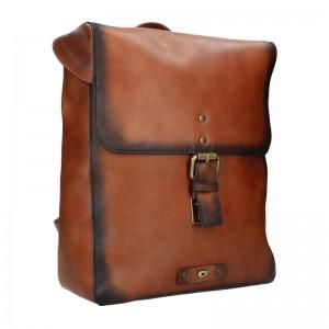 Dámsky kožený batoh Daag Marela - hnedá