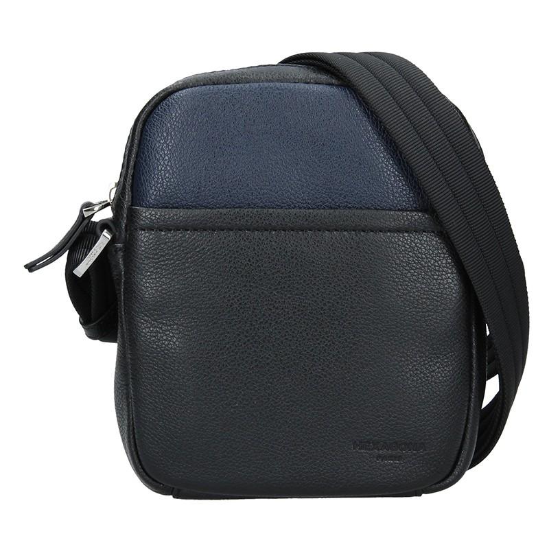 Pánska taška na doklady Hexagon Anders - čierno-modrá