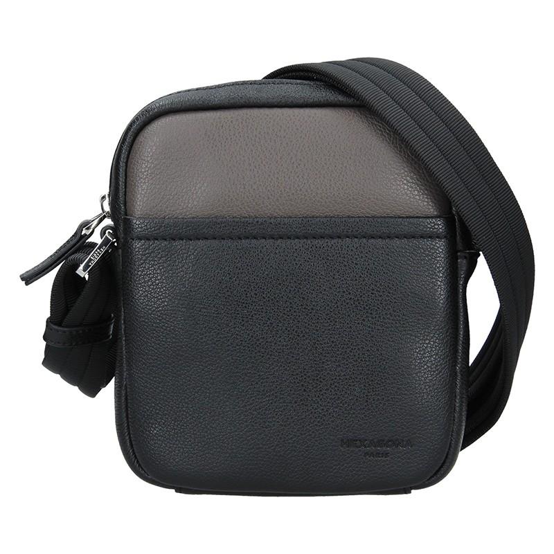 Pánska taška na doklady Hexagon Anders - čierno-hnedá