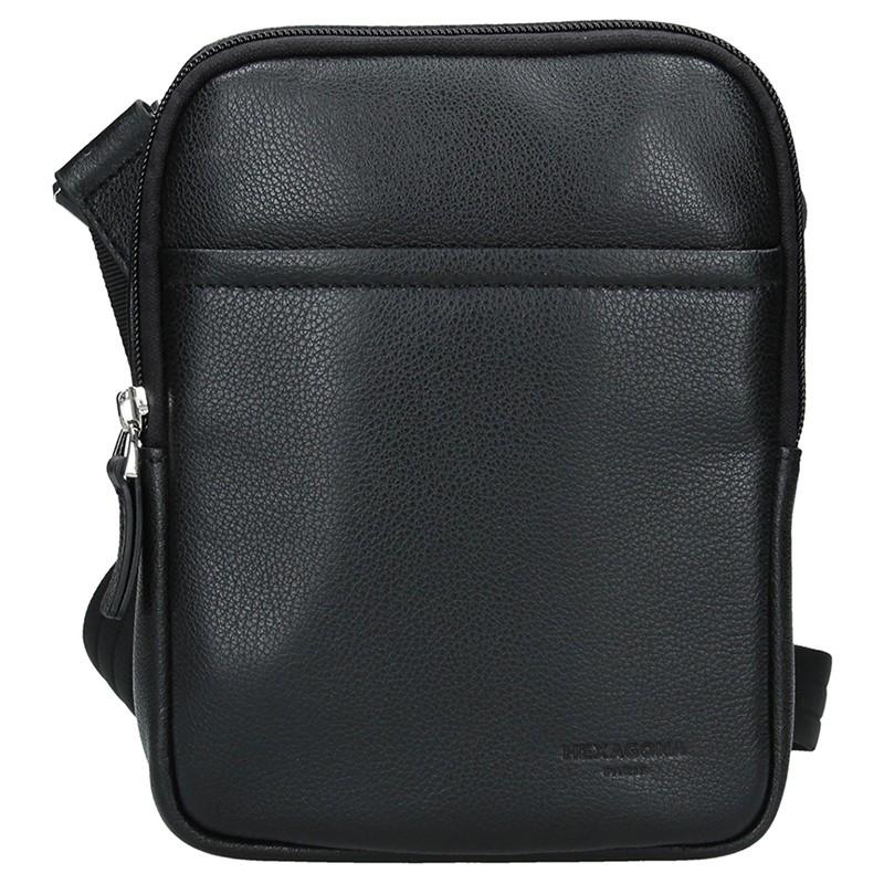 Pánska taška na doklady Hexagon Ruben - čierna