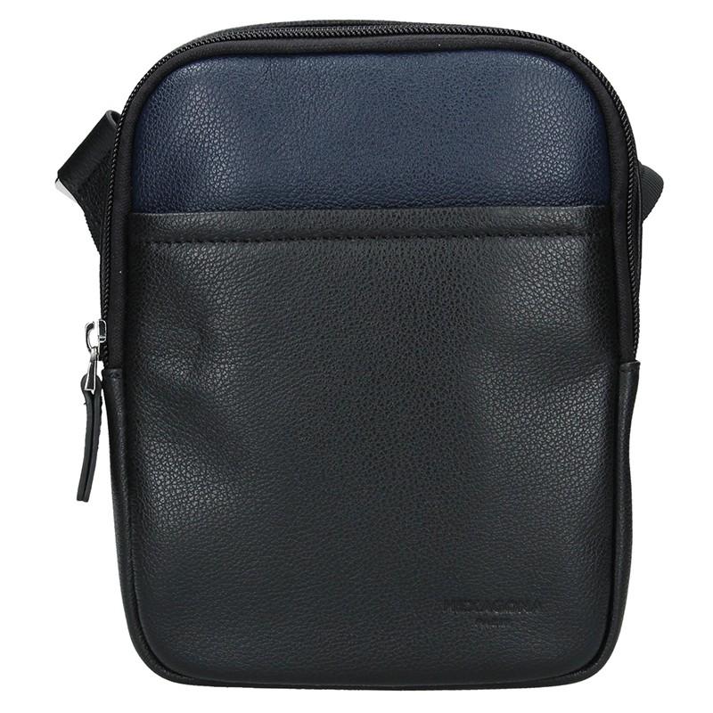 Pánska taška na doklady Hexagon Ruben - čierno-modrá