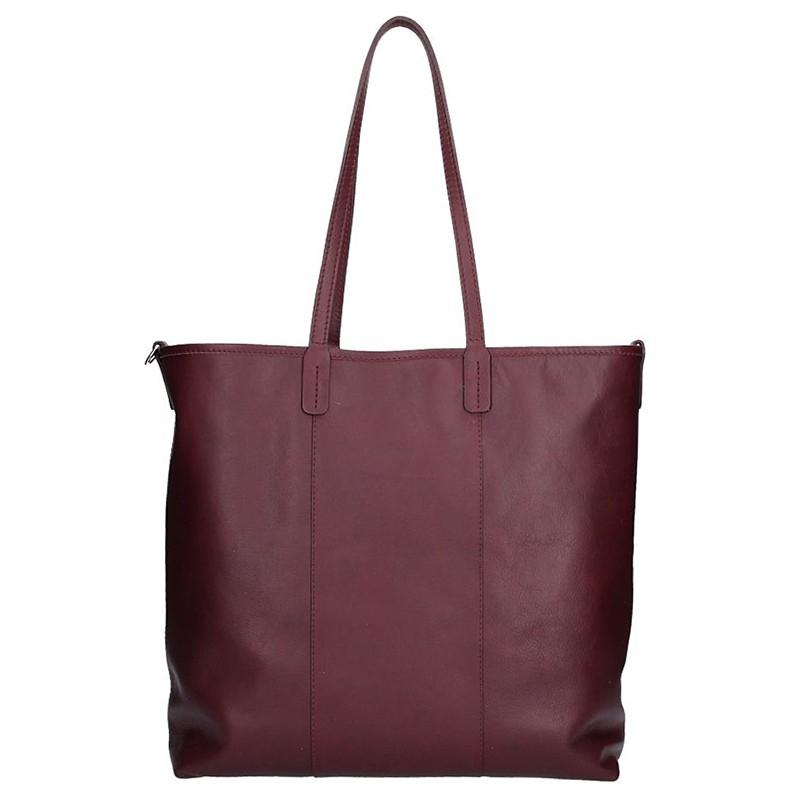 Dámska kožená kabelka Facebag Gwen - vínová