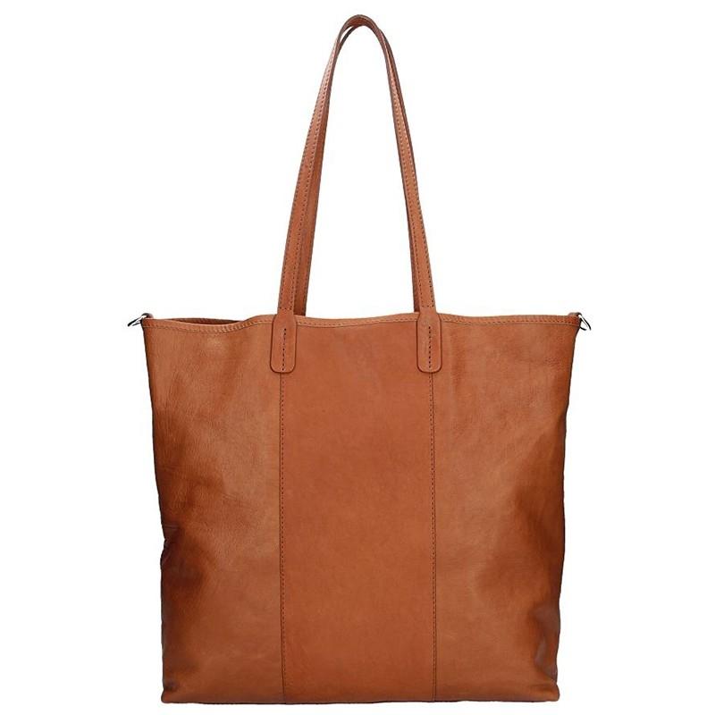 Dámska kožená kabelka Facebag Gwen - hnedá