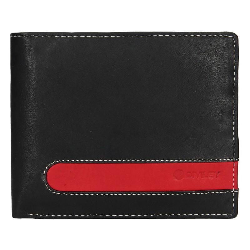 Pánska kožená peňaženka Diviley Fabilou - čierna