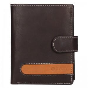 Pánska kožená peňaženka Diviley Davide - hnedá
