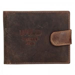 Pánska kožená peňaženka Diviley Wild - hnedá