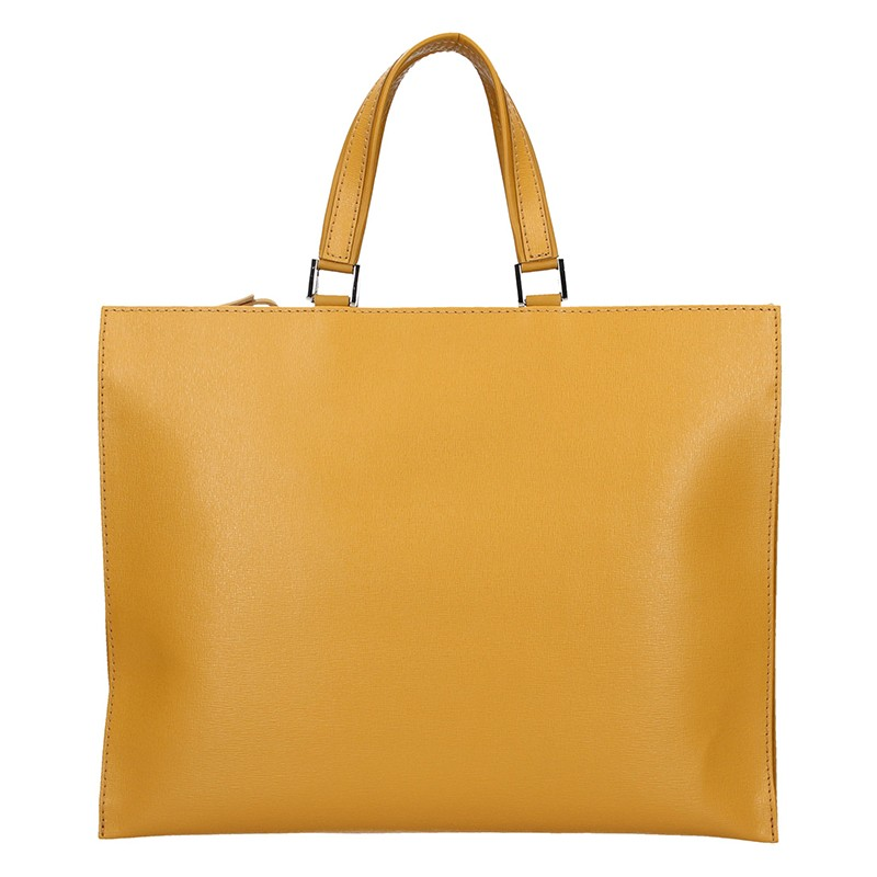 Dámska kožená aktovka Facebag Lexa - žltá