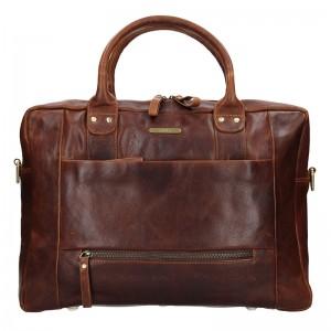 Pánska kožená taška SendiDesign Dante - hnedá