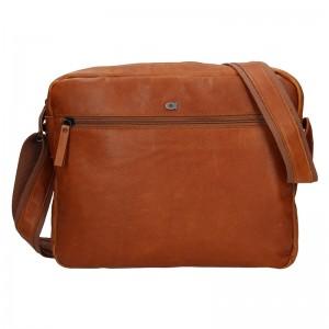 Pánska kožená taška Daag Kresl - koňak