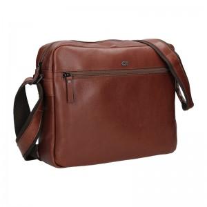 Pánska kožená taška Daag Kresl - vínovo-hnedá