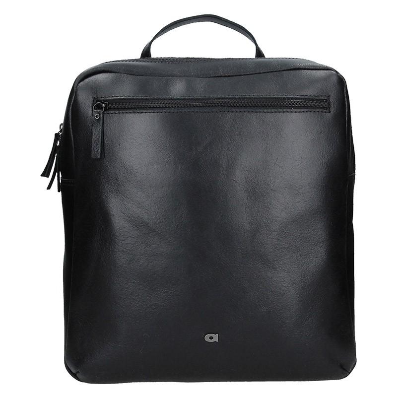 Pánsky kožený batoh Daag Sanco - čierna