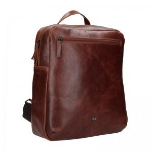 Pánsky kožený batoh Daag Sanco - hnedá