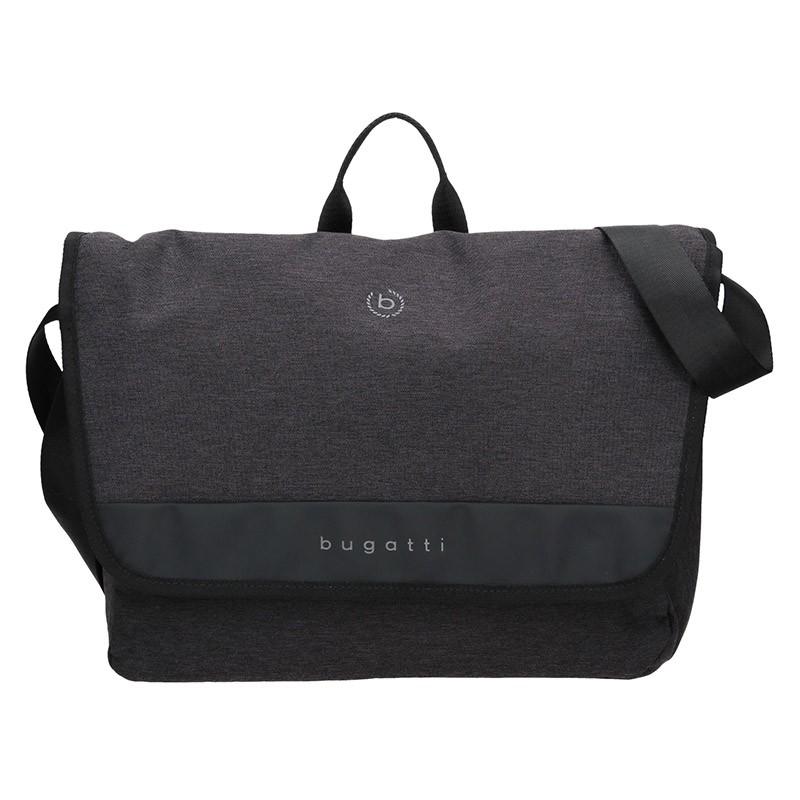 Pánska taška cez rameno Bugatti Braun - čierno-šedá