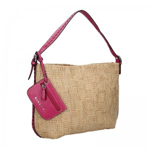 Dámska kabelka Sisley Lisa - béžovo-fialová