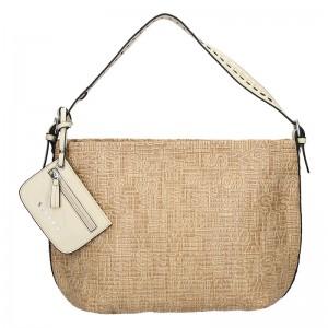 Dámska kabelka Sisley Lisa - béžová