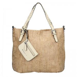 Dámska kabelka Sisley Noemi - béžová
