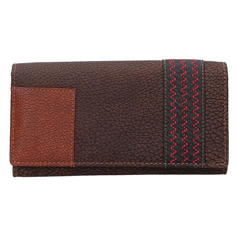 Dámska kožená peňaženka Lagen Květa - hnedá