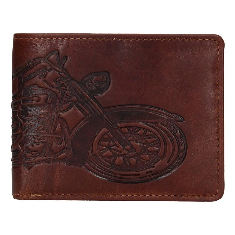 Pánska kožená peňaženka Lagen Moto - hnedá