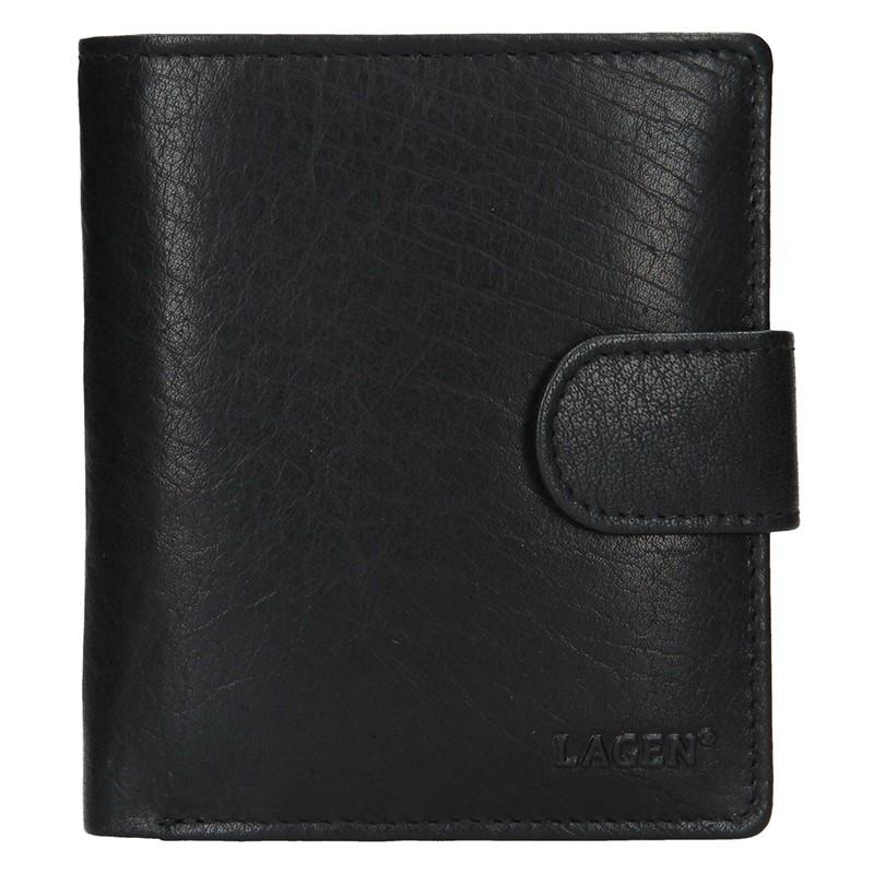 Pánska kožená peňaženka Lagen Katini - čierna