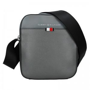 Pánska kožená taška cez rameno Tommy Hilfiger Pallo - šedá