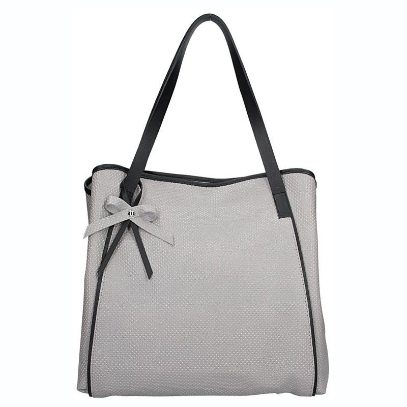 Dámska kožená kabelka Facebag Helena - šedá