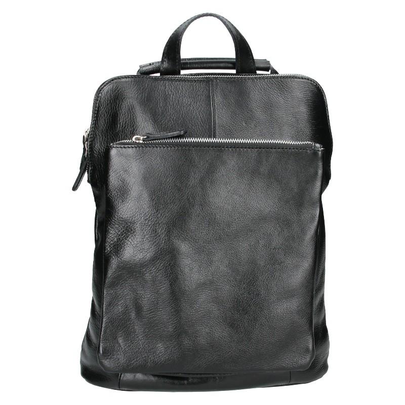 Dámský kožený batoh Delami Dione - čierna