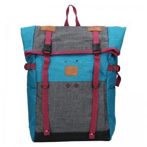 Veľký trendy batoh New Rebels Falcon - šedo-modrá