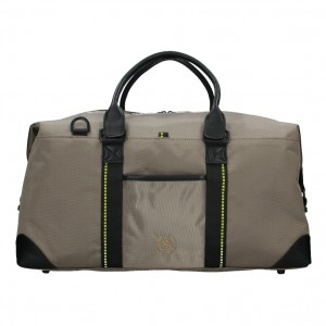 Pánská cestovní taška Lerros Michael - béžovo-čierna