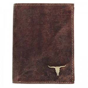 Pánska kožená peňaženka Wild Buffalo Tomas - koňak