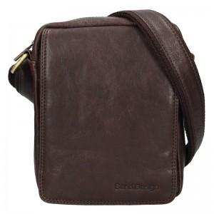 Pánska kožená taška cez rameno SendiDesign Danet - hnedá